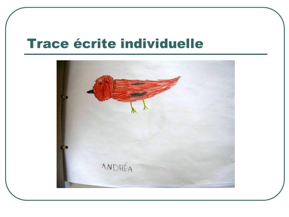 Trace écrite individuelle