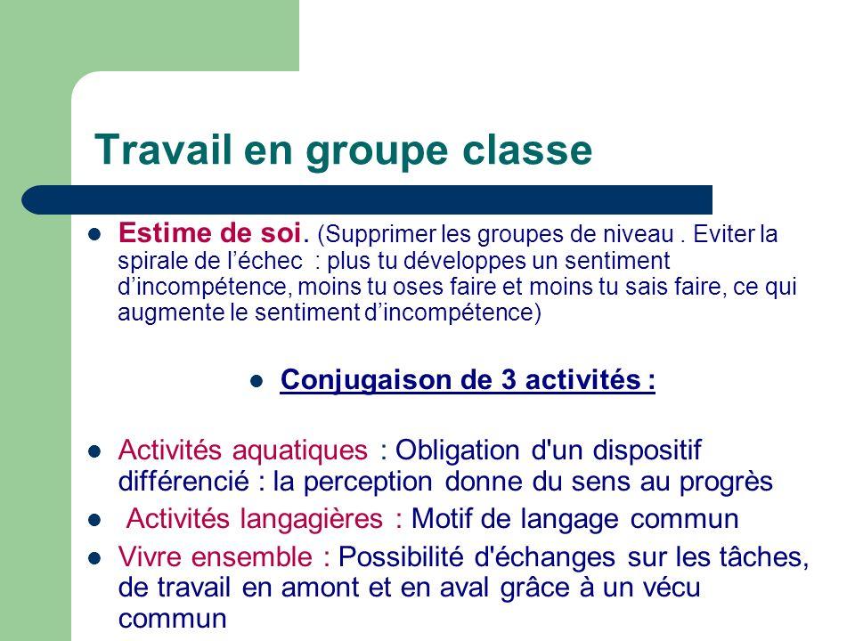 Travail en groupe classe