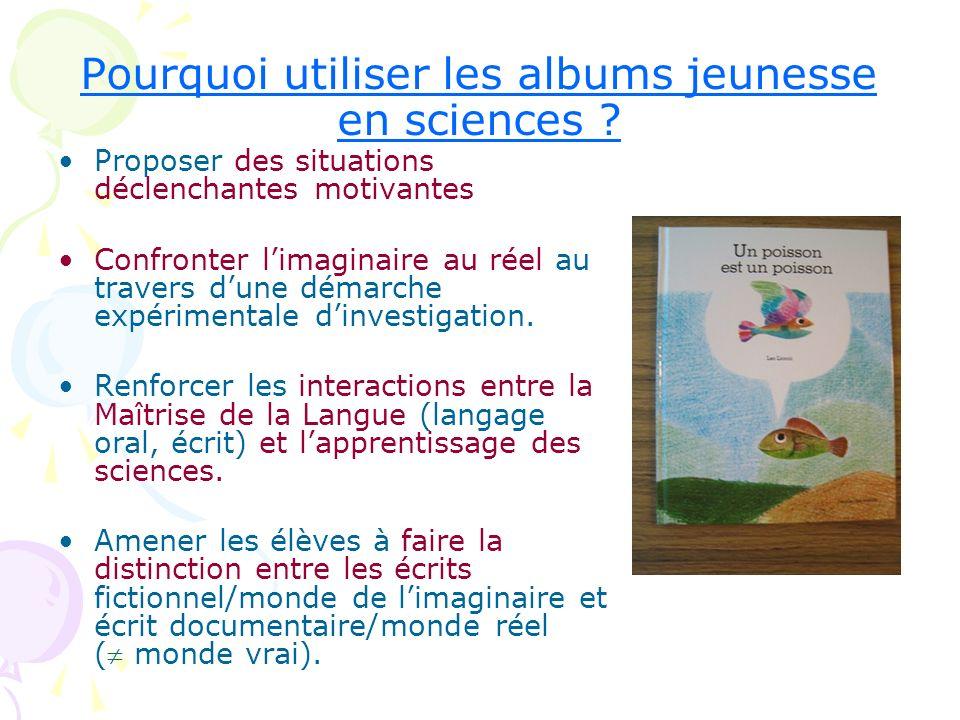 Pourquoi utiliser les albums jeunesse en sciences