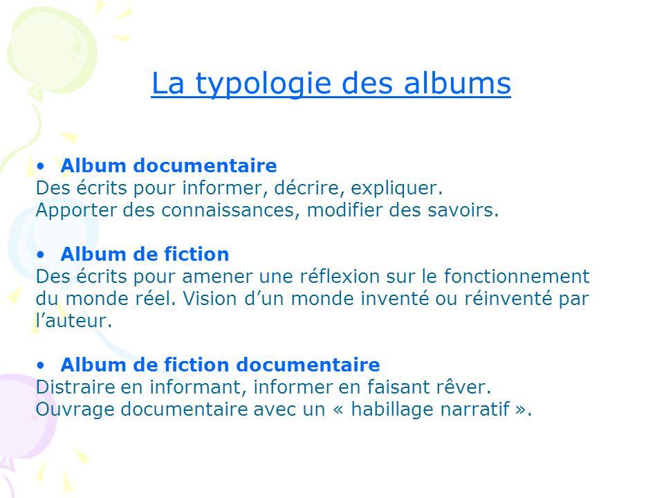 La typologie des albums