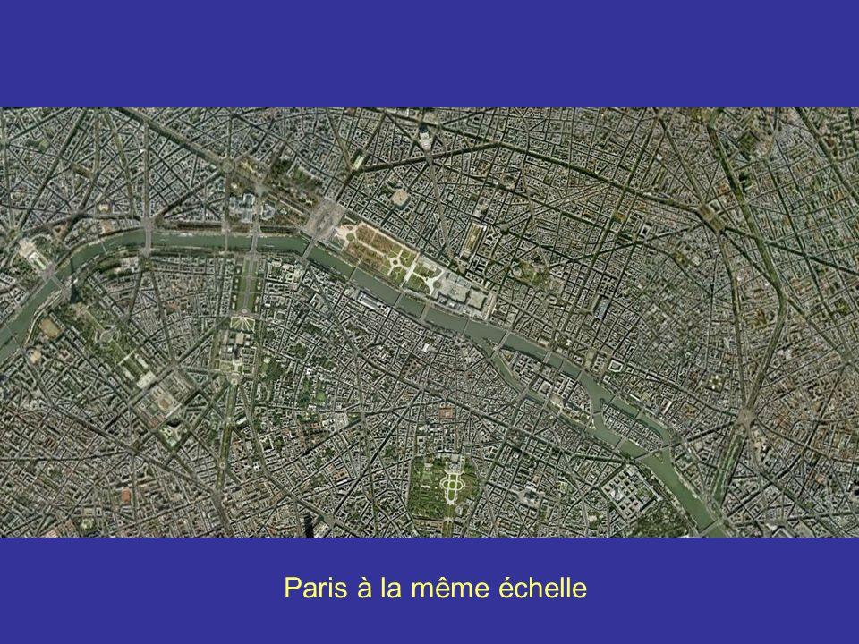 Paris à la même échelle Strasbourg