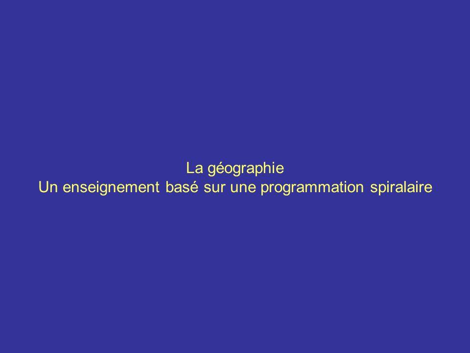 Un enseignement basé sur une programmation spiralaire
