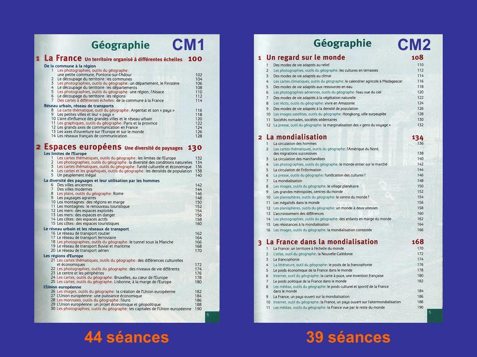 CM1 CM2 44 séances 39 séances