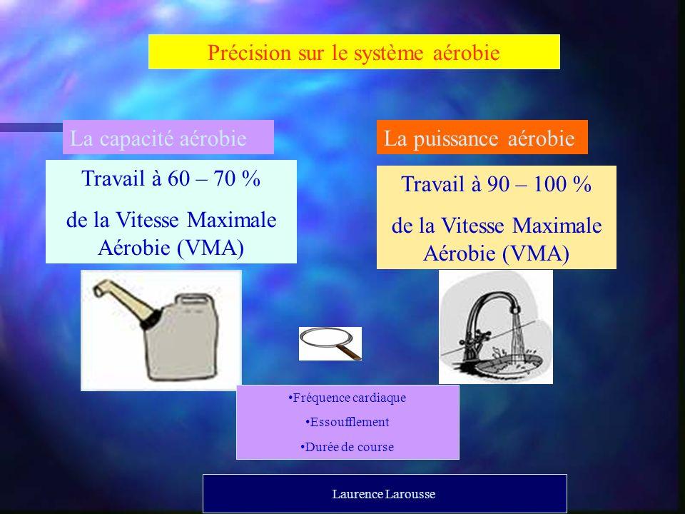 Précision sur le système aérobie