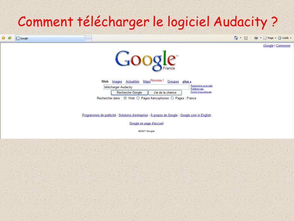 Comment télécharger le logiciel Audacity