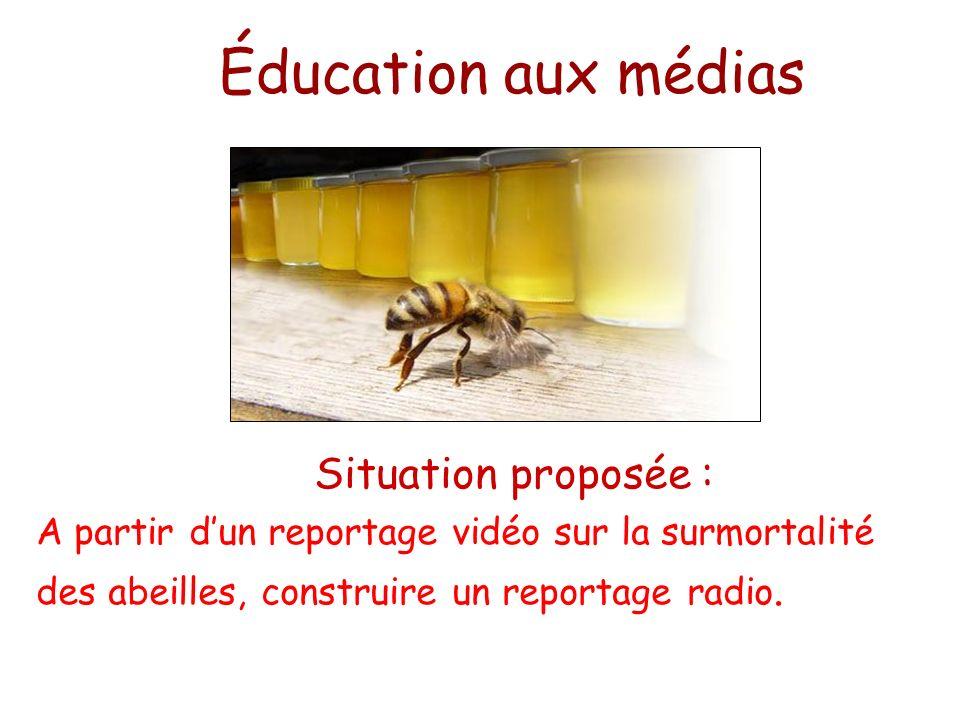 Éducation aux médias Situation proposée :