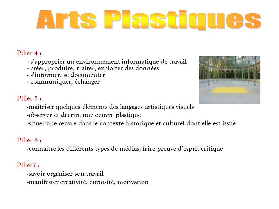 Arts Plastiques Pilier 4 :