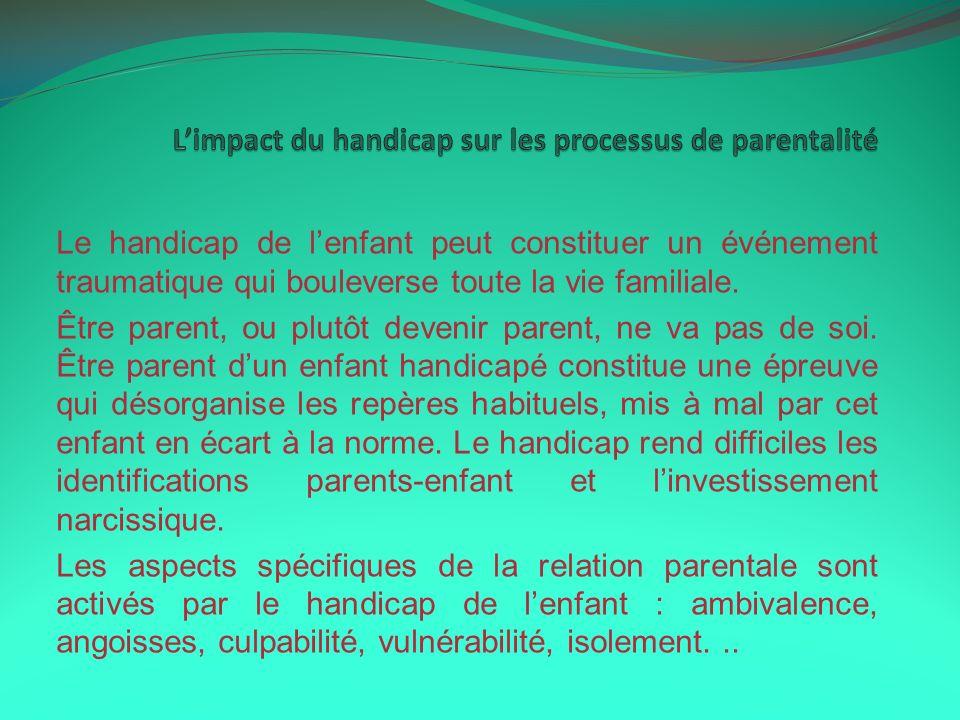 L'impact du handicap sur les processus de parentalité