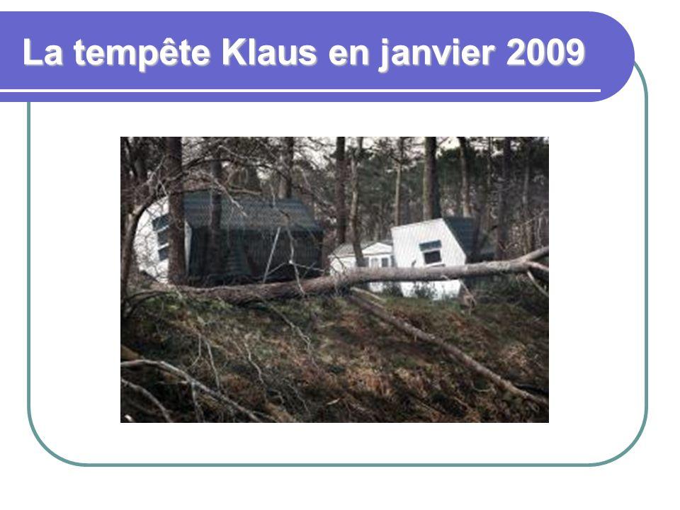 La tempête Klaus en janvier 2009