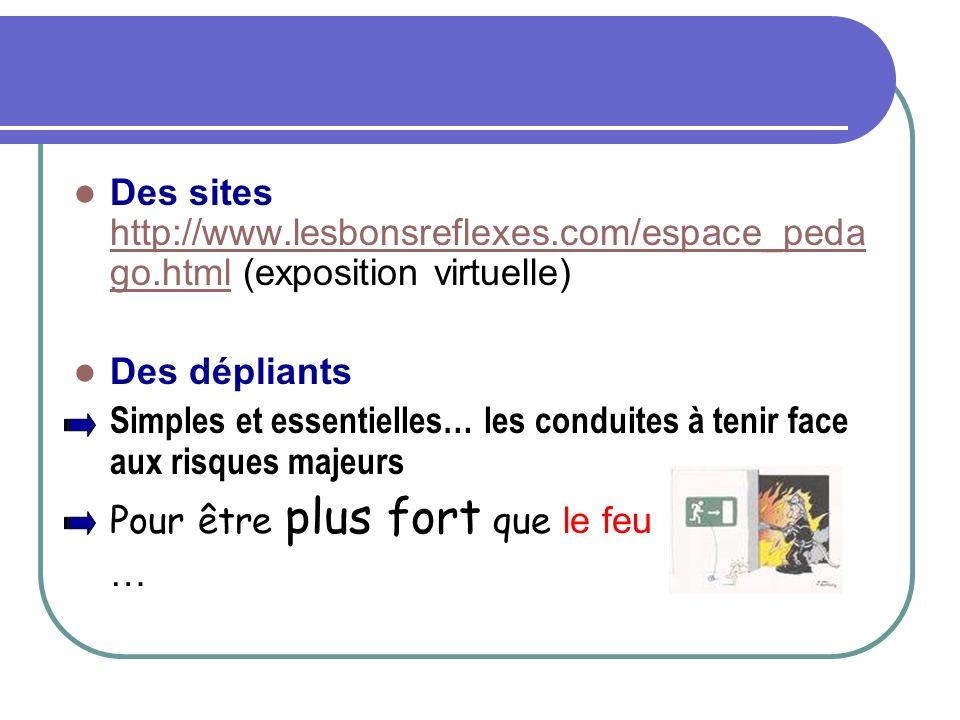 Des sites http://www. lesbonsreflexes. com/espace_pedago