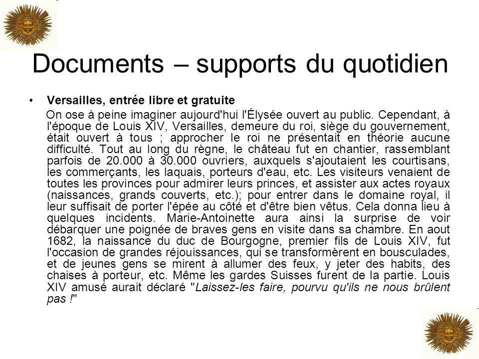 Documents – supports du quotidien