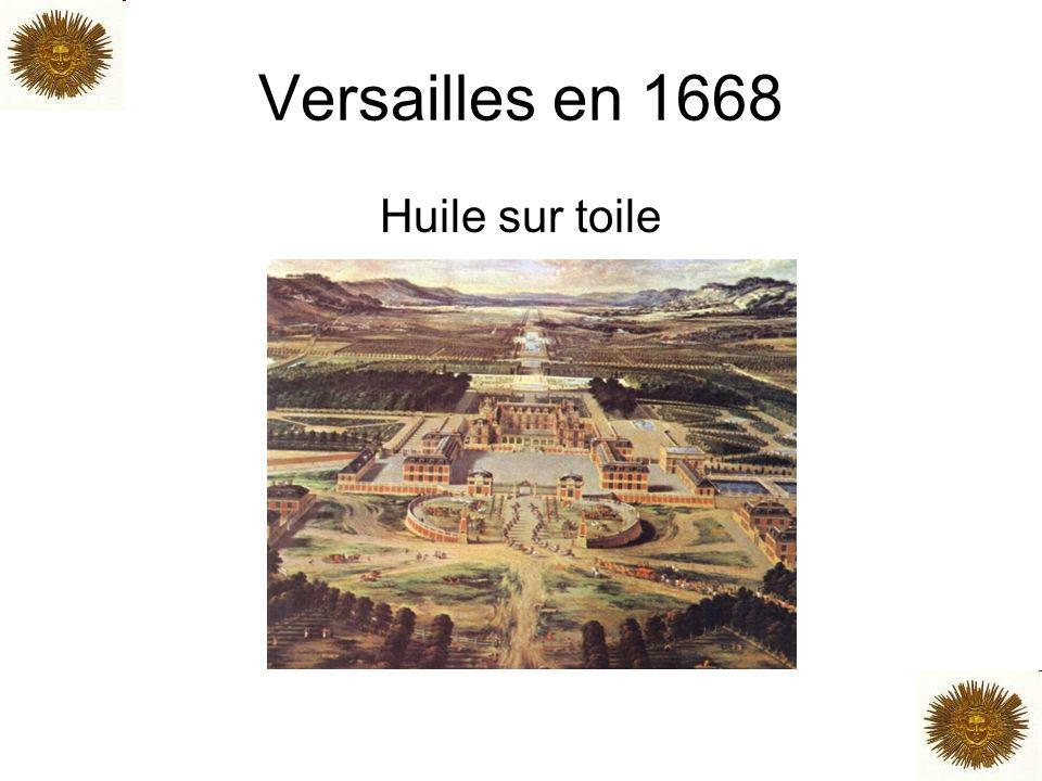 Versailles en 1668 Huile sur toile