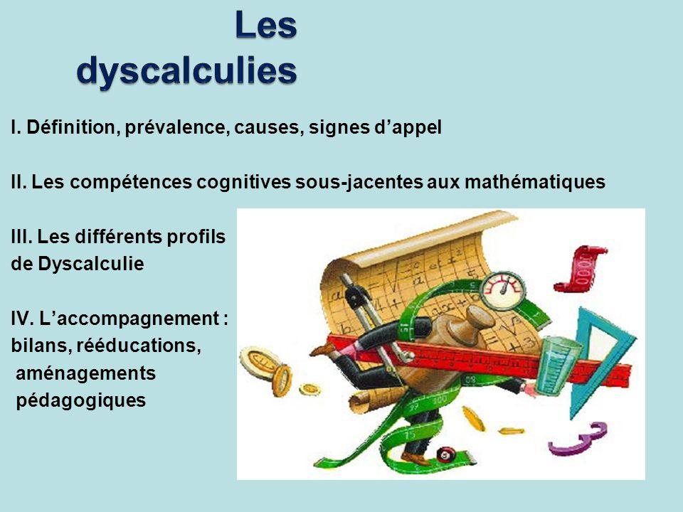Les dyscalculies I. Définition, prévalence, causes, signes d'appel