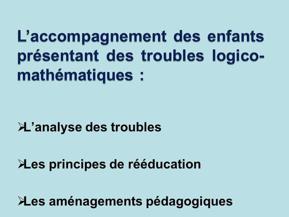 L'accompagnement des enfants présentant des troubles logico-mathématiques :