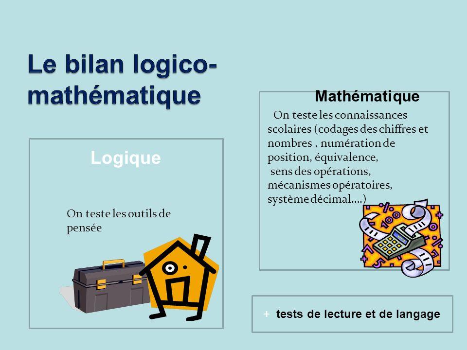 Le bilan logico-mathématique