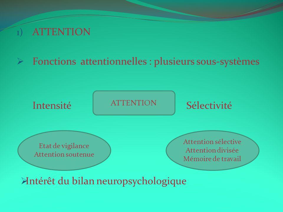 Fonctions attentionnelles : plusieurs sous-systèmes