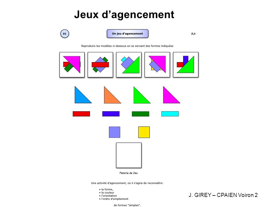 Jeux d'agencement J. GIREY – CPAIEN Voiron 2
