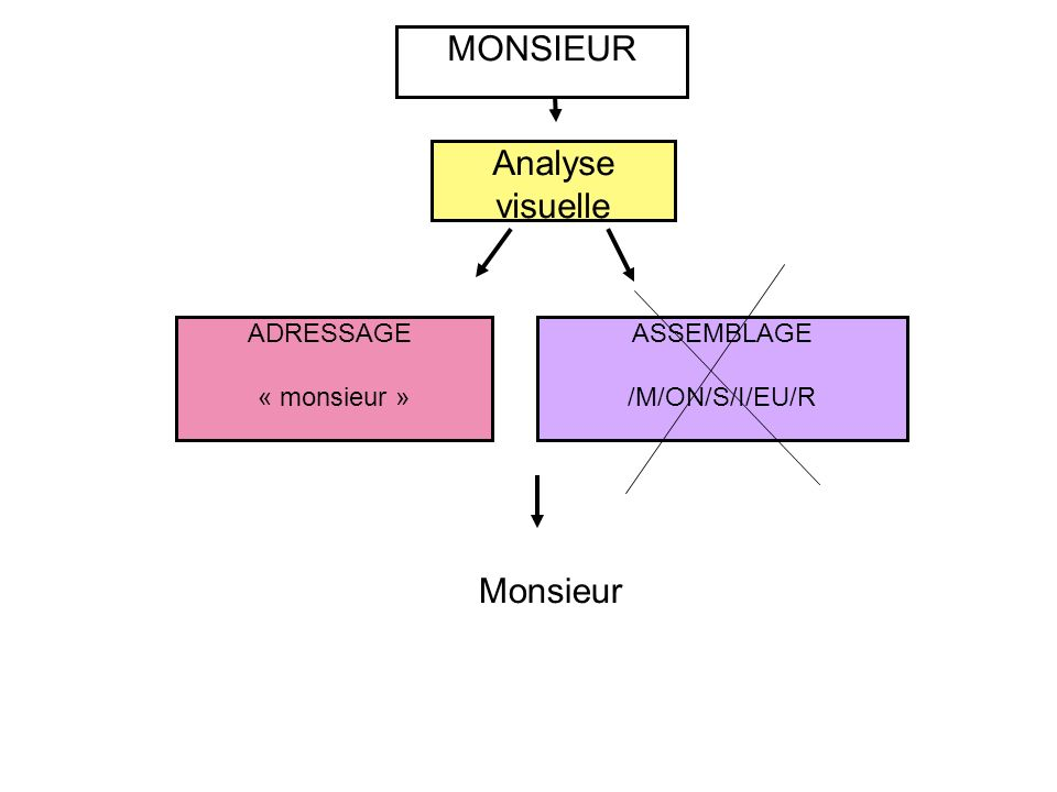 MONSIEUR Analyse visuelle Monsieur ADRESSAGE « monsieur » ASSEMBLAGE