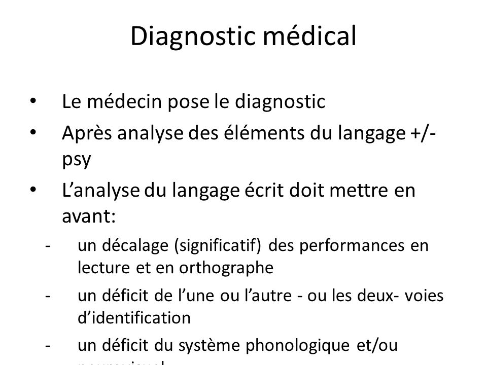 Diagnostic médical Le médecin pose le diagnostic