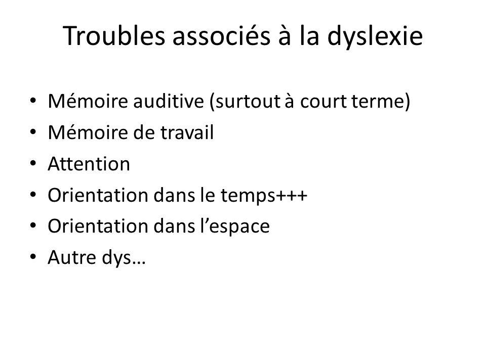 Troubles associés à la dyslexie