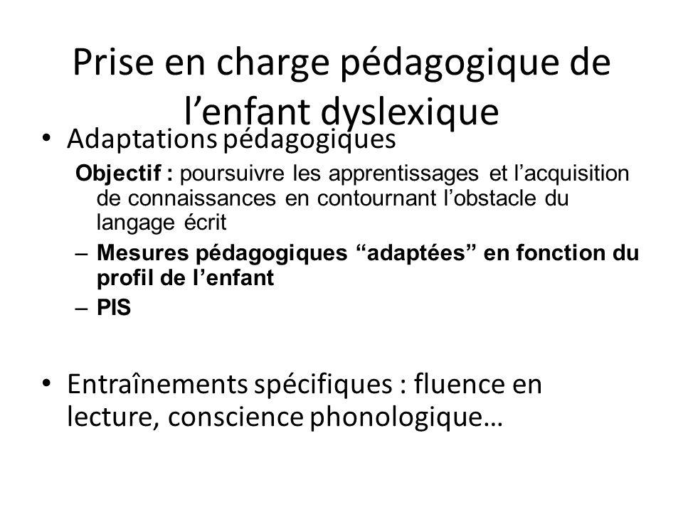 Prise en charge pédagogique de l'enfant dyslexique