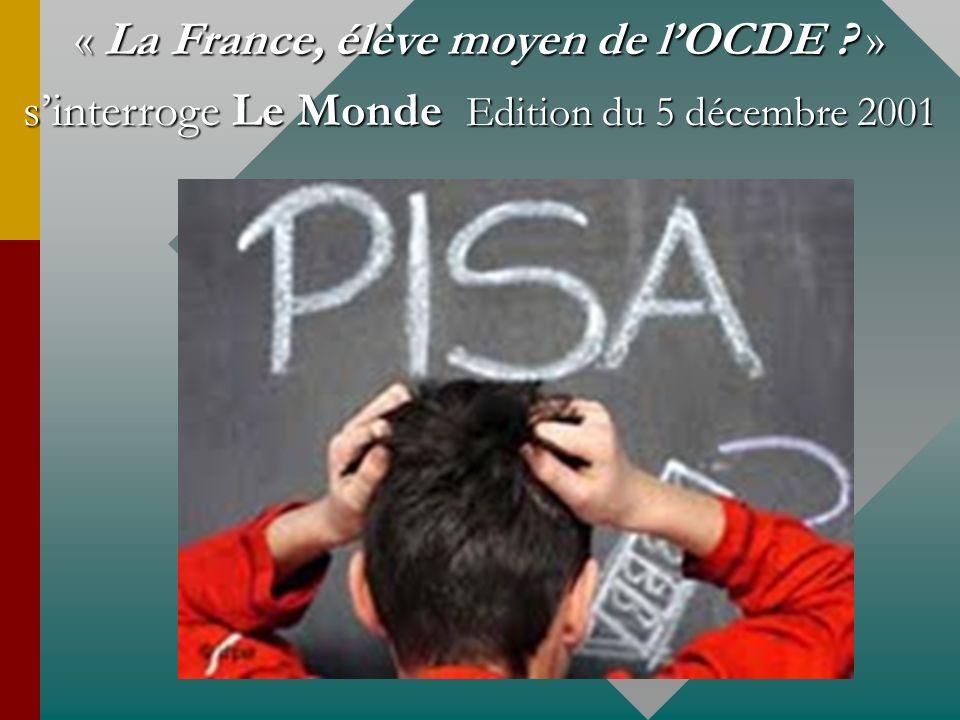 « La France, élève moyen de l'OCDE »