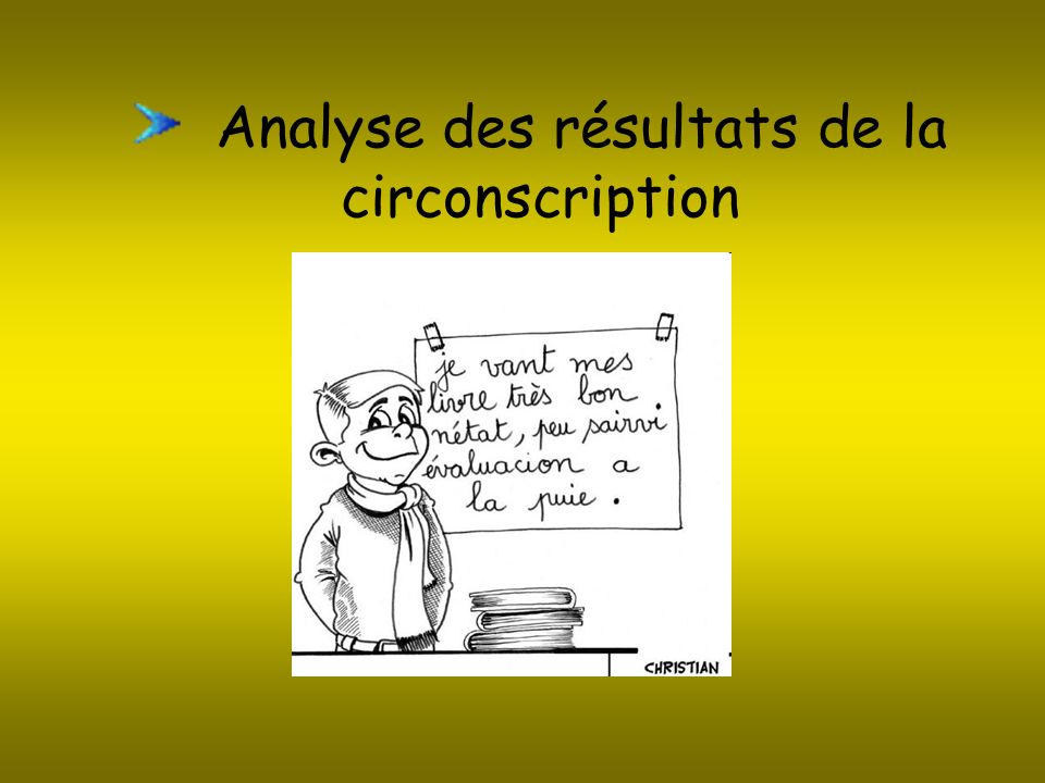 Analyse des résultats de la circonscription