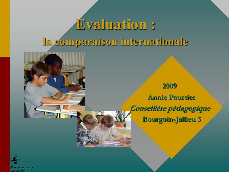 Evaluation : la comparaison internationale