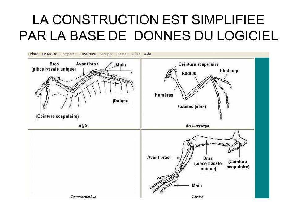LA CONSTRUCTION EST SIMPLIFIEE PAR LA BASE DE DONNES DU LOGICIEL