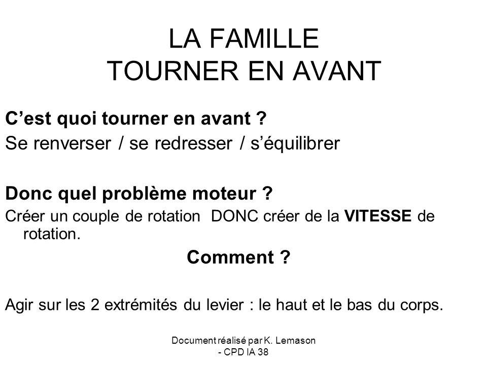 LA FAMILLE TOURNER EN AVANT