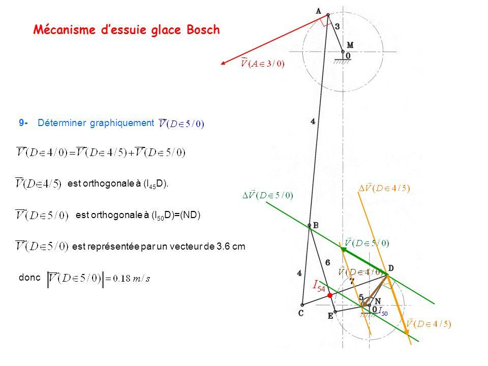Mécanisme d'essuie glace Bosch