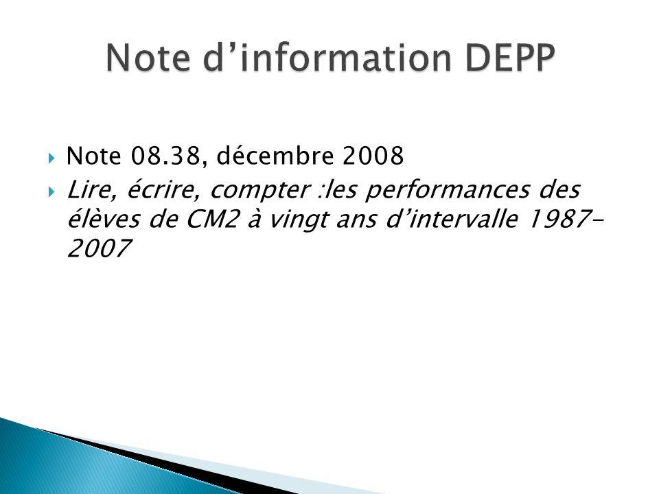 Note d'information DEPP