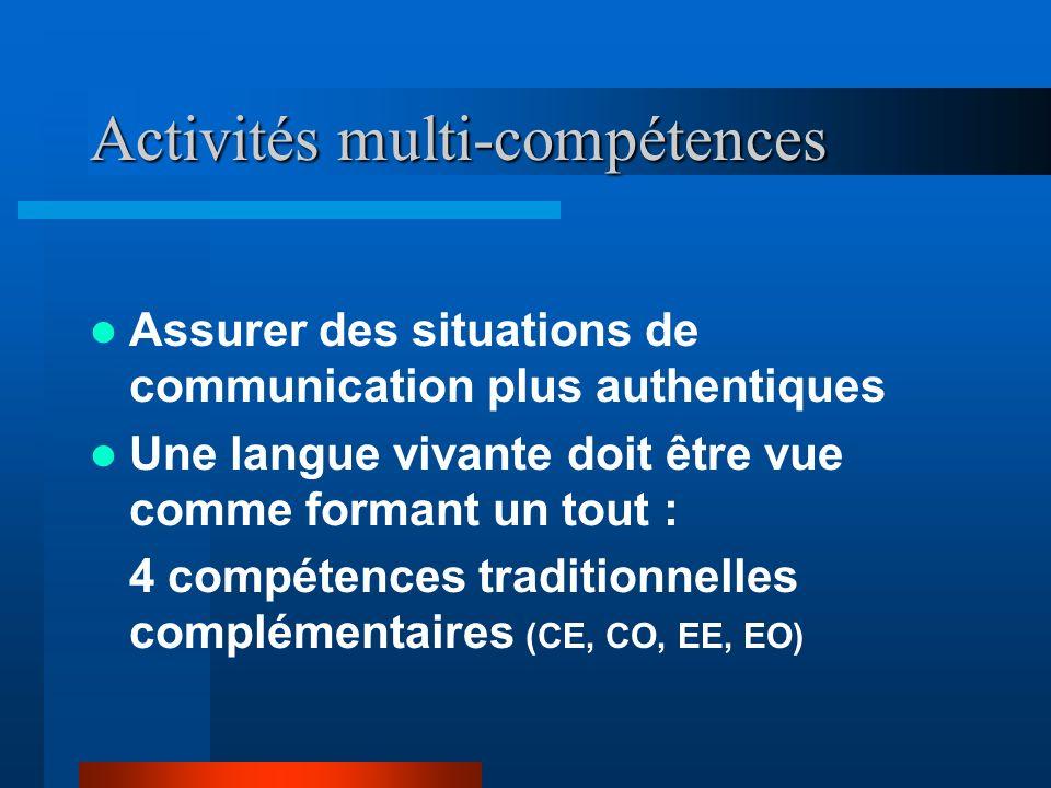 Activités multi-compétences