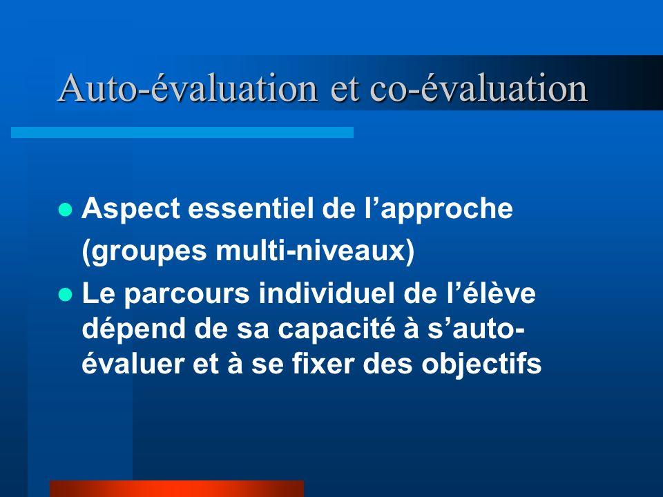 Auto-évaluation et co-évaluation