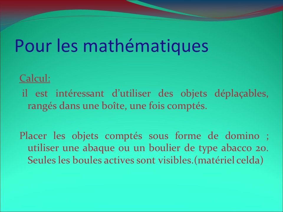 Pour les mathématiques
