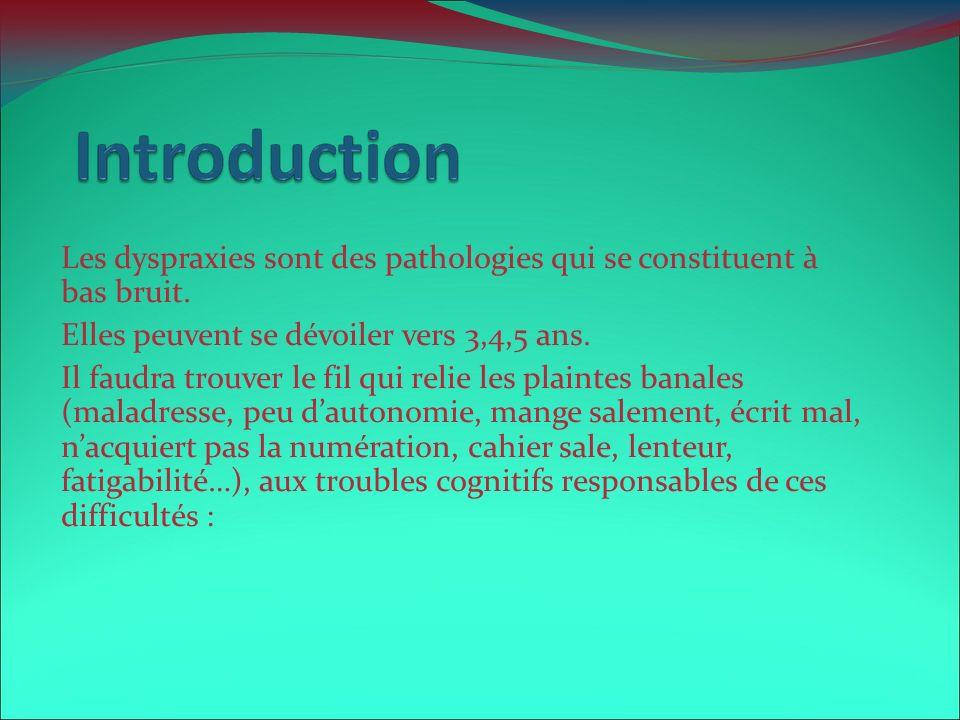 Les dyspraxies sont des pathologies qui se constituent à bas bruit.
