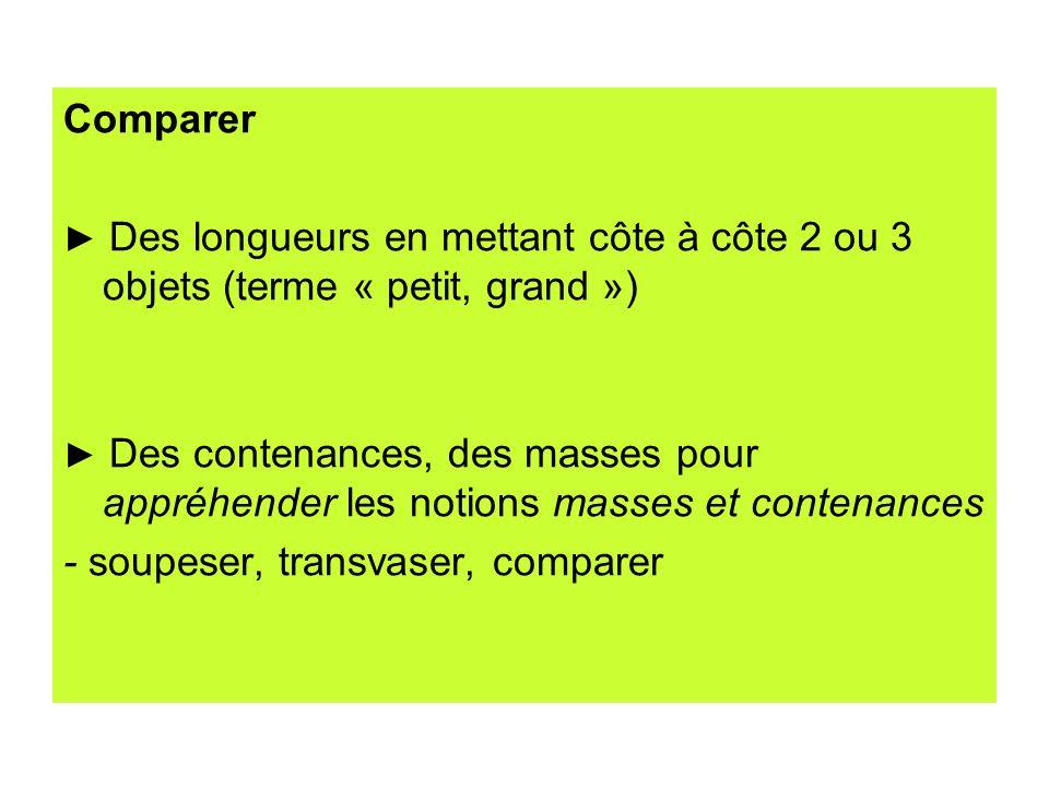 - soupeser, transvaser, comparer