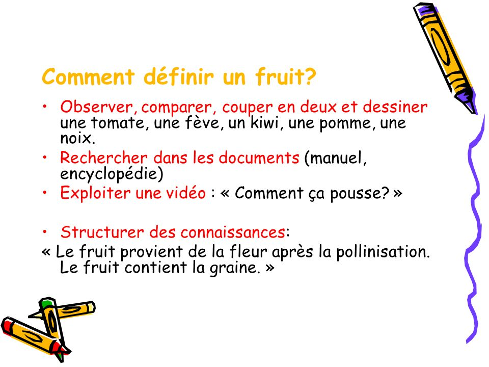 Comment définir un fruit
