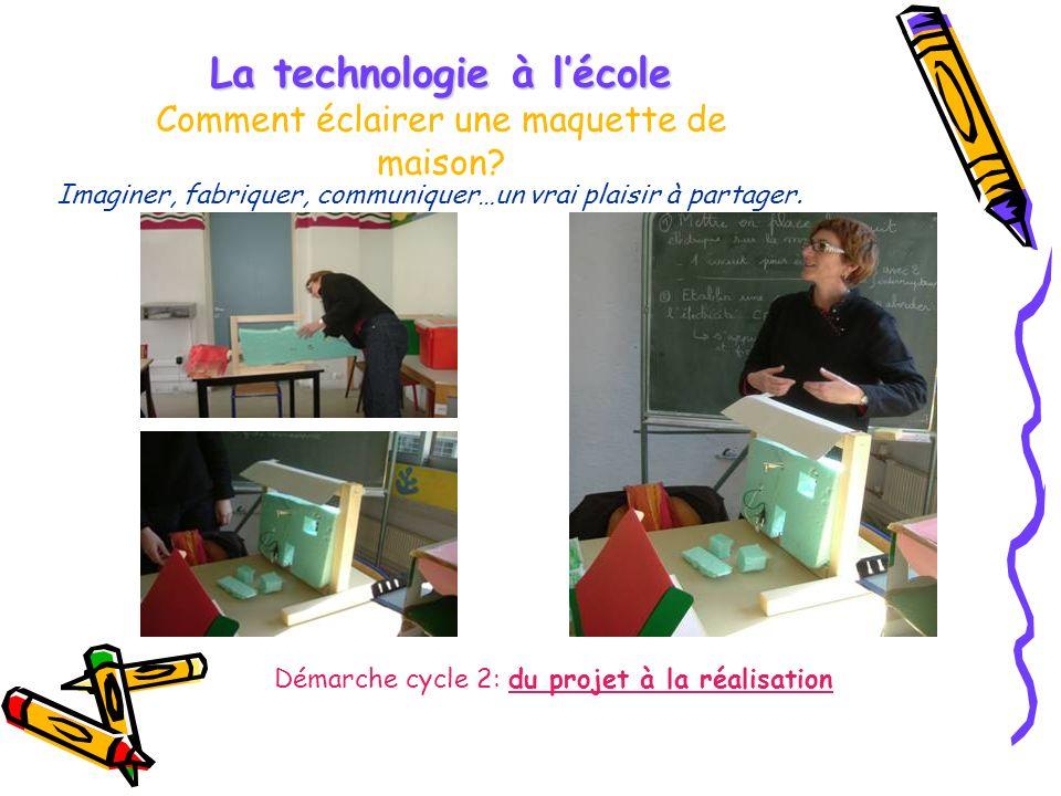 La technologie à l'école Comment éclairer une maquette de maison