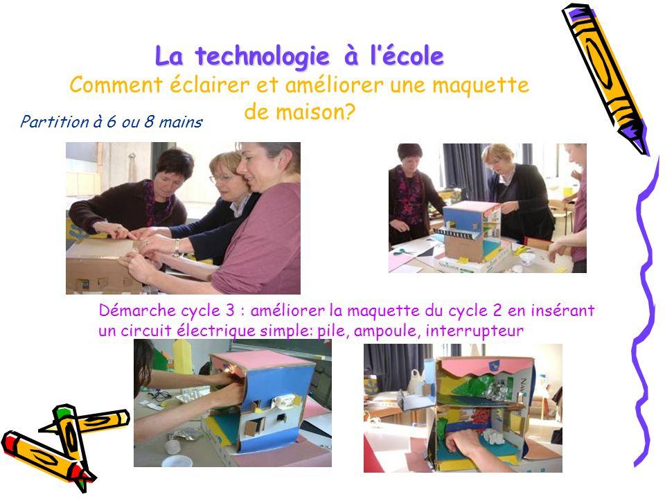La technologie à l'école Comment éclairer et améliorer une maquette de maison