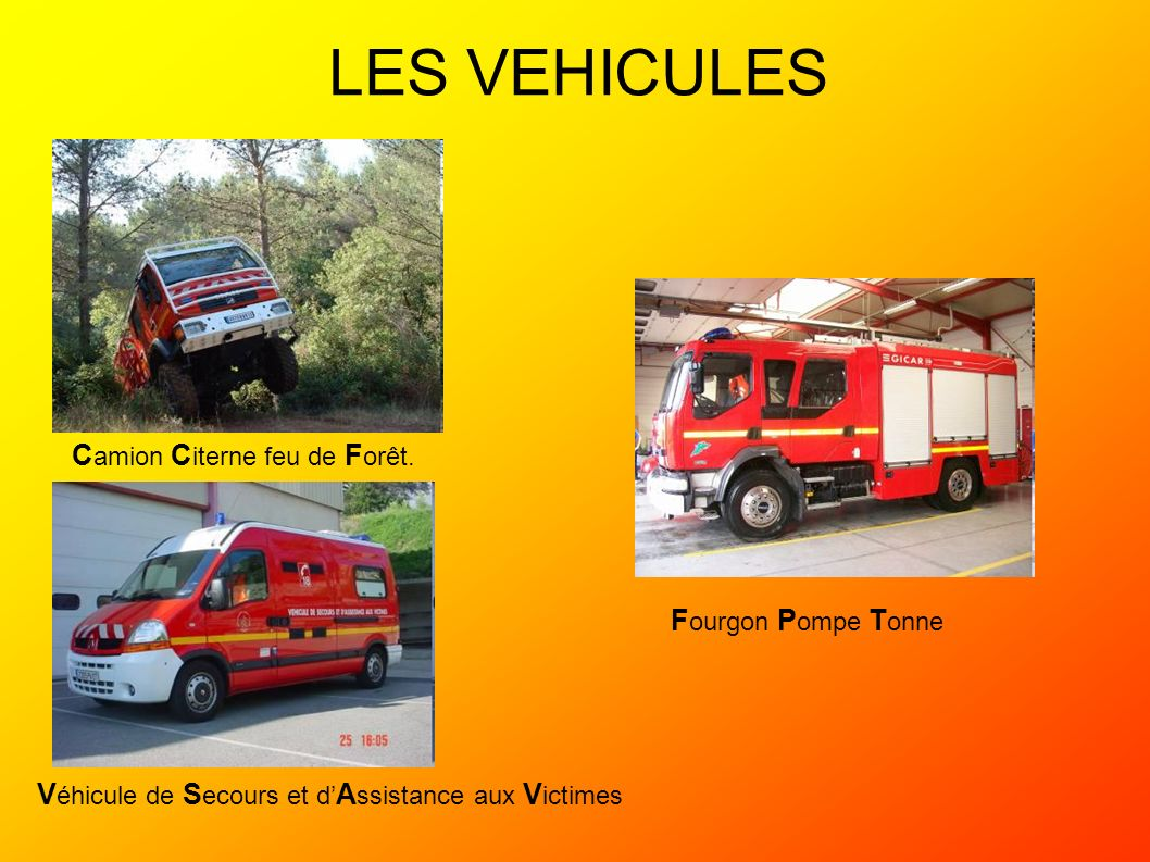 LES VEHICULES Camion Citerne feu de Forêt. Fourgon Pompe Tonne