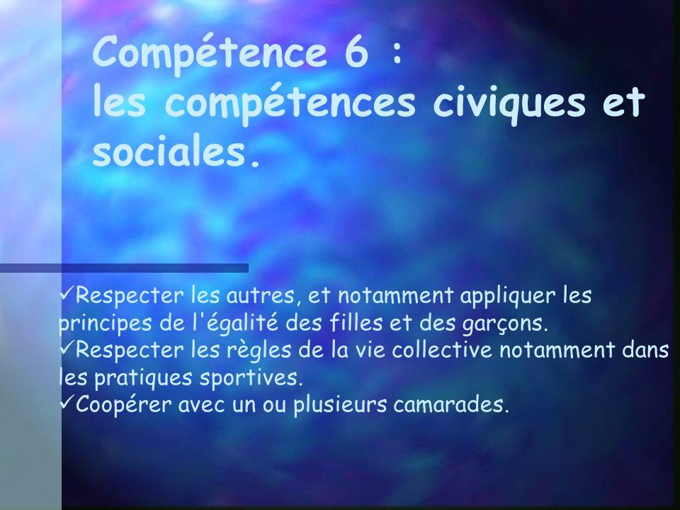 les compétences civiques et sociales.