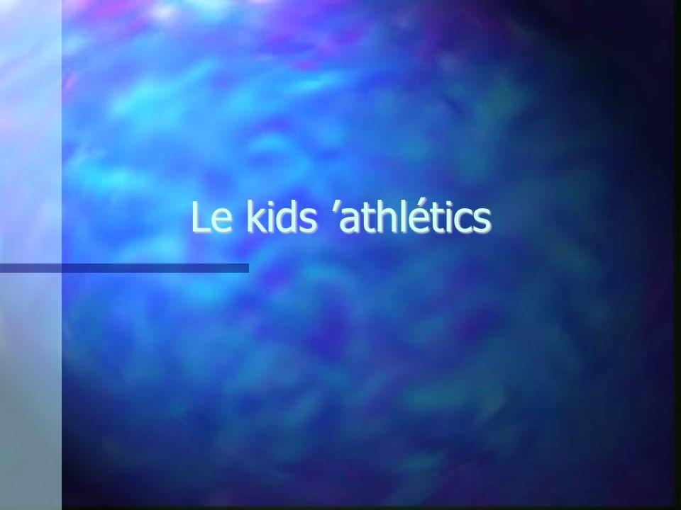 Le kids 'athlétics