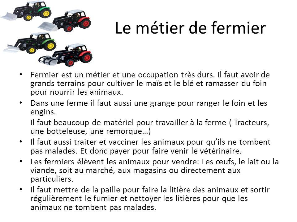 Le métier de fermier