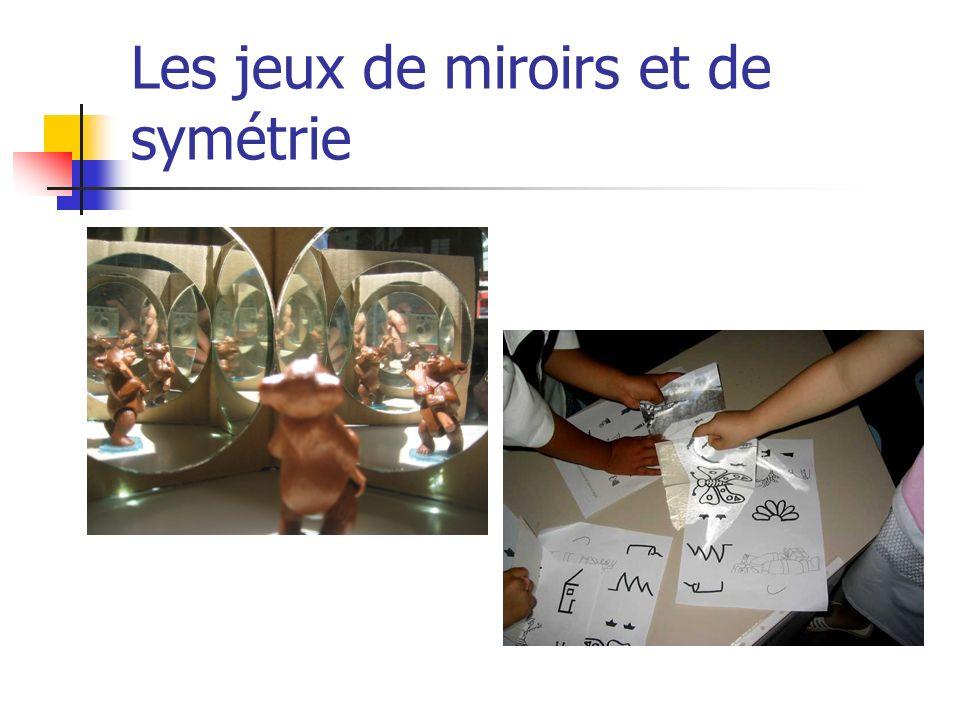 Les jeux de miroirs et de symétrie