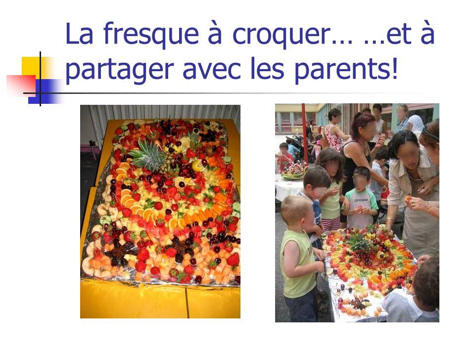 La fresque à croquer… …et à partager avec les parents!