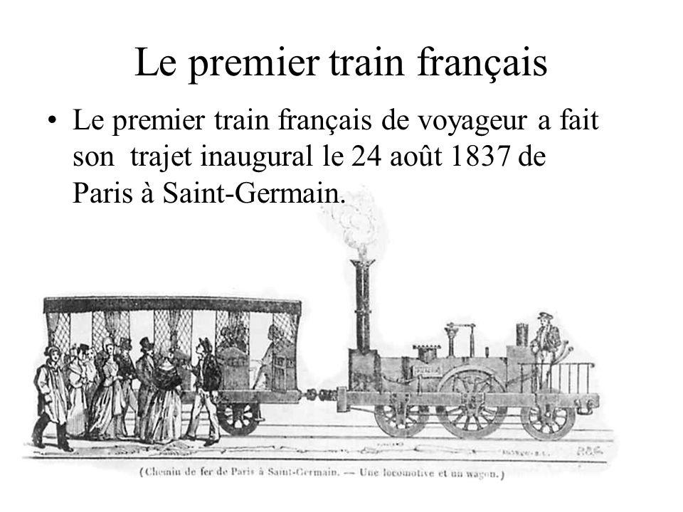 Le premier train français
