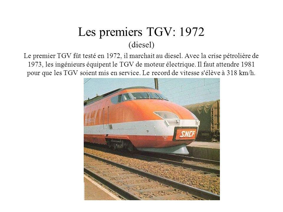 Les premiers TGV: 1972 (diesel)