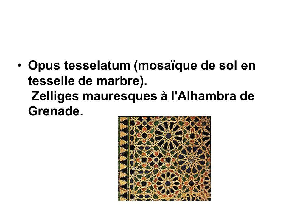 Opus tesselatum (mosaïque de sol en tesselle de marbre)