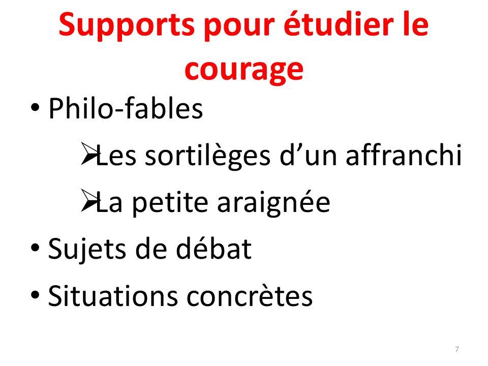 Supports pour étudier le courage